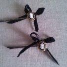 Regency Cameo and Bow Bobby pins