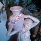 Pink Rococo Marie Antoinette and Roses Headband Hair Band With Hair Grip Teeth