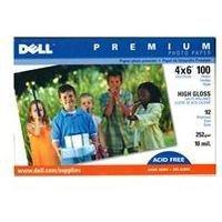 New Dell Premium Photo Paper 4 X 6 High Gloss 10.25 Mil. 100 Sheets