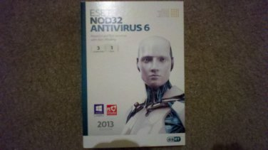 NEW ESET Nod32 Antivirus 6 - 3 PCs 1 Year Free Shipping