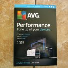 NEW AVG Performance PC TuneUp 2015 Unlimited Devices 2 Years Tune Up & Cleaner