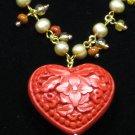 Fiery Heart Necklace