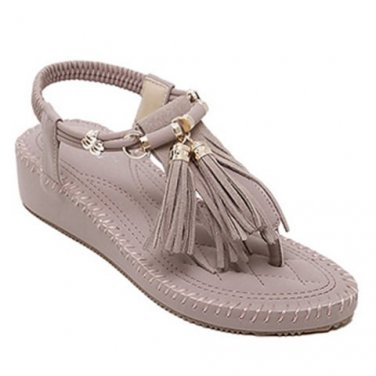 Casual Women's Sandals With Tassels Design