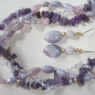 Twisted Amethyst Necklace - 3 strands