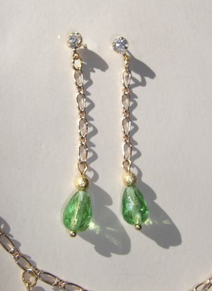 Peridot (green) Waterfall Earrings