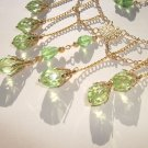 Gold Chain and Peridot Necklace