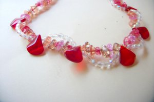 Ruby Crackle Necklace