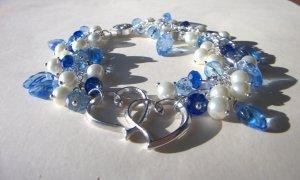 Sapphire and heart bracelet