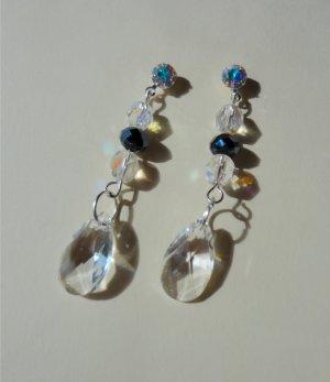 Ebony & Crystal Baroque Pendant Earrings