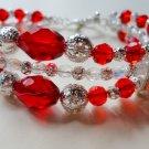 Ruby Crystal Bracelet
