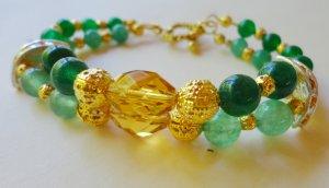 Jade and Topaz Crystal Bracelet