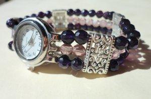 Amethyst Crystal Bracelet Watch
