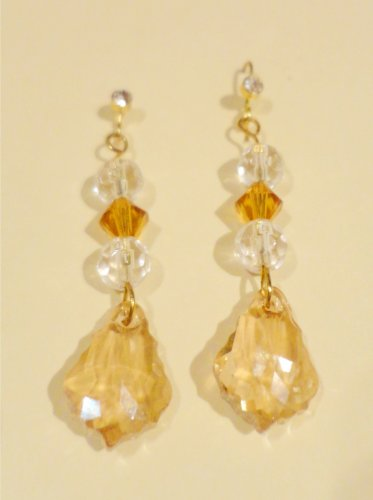 Baroque Crystal Pendant Earrings