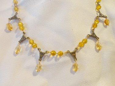 Citrine Necklace - Edwardian Style