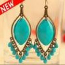 Silver Plated Natural Turquoise Earrings