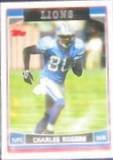 2006 Topps Charles Rogers #98 Lions