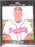 2007 Topps (Red Back) Manager Bobby Cox #256 Braves