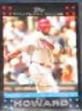 2007 Topps MVP Ryan Howard #322 Phillies