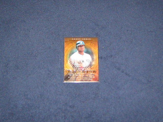 2007 Fleer Year in Review Bobby Abreu #YR-BA Yankees