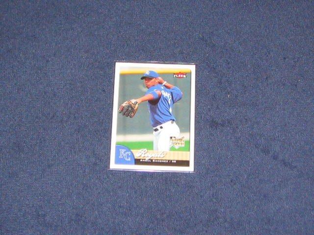2007 Fleer Rookie Angel Sanchez #344 Royals