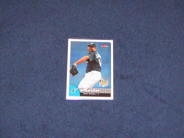 2007 Fleer Rookie Jose Garcia #339 Marlins