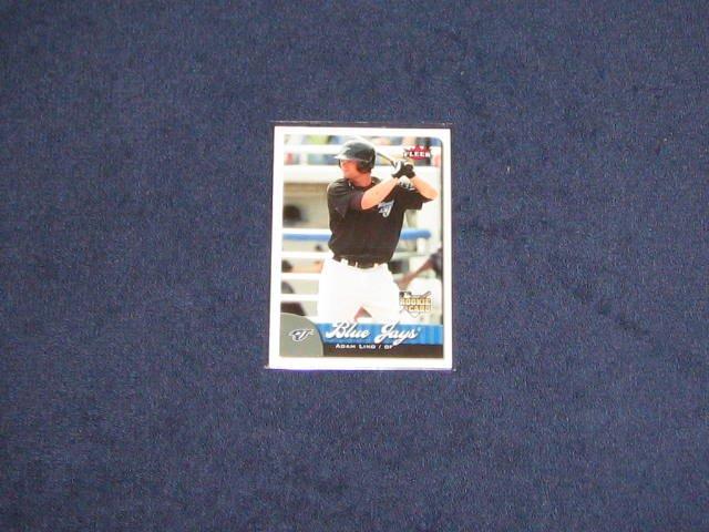 2007 Fleer Rookie Adam Lind #368 Blue Jays