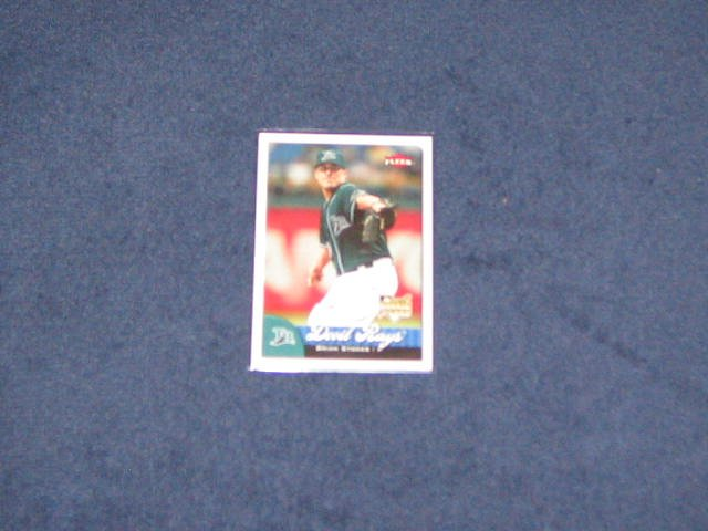 2007 Fleer Rookie Brian Stokes #364 Devil Rays