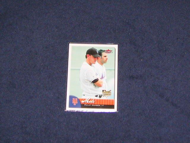 2007 Fleer Rookie Philip Humber #356 Mets