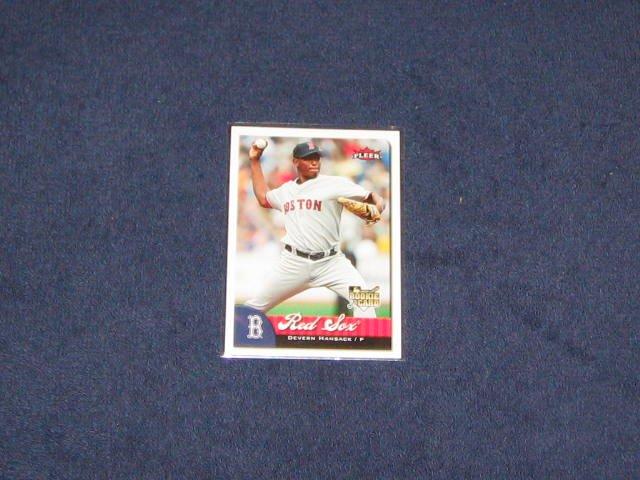 2007 Fleer Rookie Devern Hansack #352 Red Sox