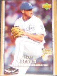 2007 UD First Edition Rookie Ryan Braun #22 Royals