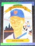 1989 Donruss Diamond Kings David Cone #9 Mets
