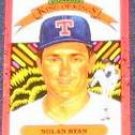 1990 Donruss Diamond Kings Nolan Ryan #665 Rangers