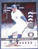 2001 Playoff Absolute Orlando Hernandez #100 Yankees