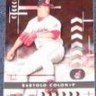 2001 Playoff Absolute Bartolo Colon #83 Indians