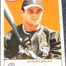 2005 Fleer Tradition Aaron Miles #222 Rockies