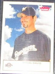 2005 Fleer Tradition Doug Davis #48 Brewers