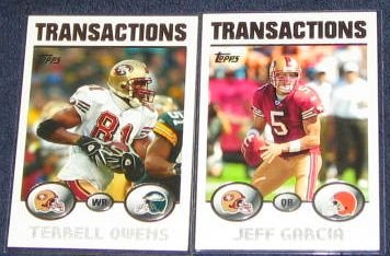 2004 Topps Transactions Terrell Owens #70