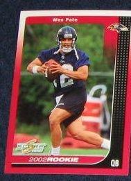 2002 Score Rookie Wes Pate #266