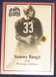 2000 Fleer Greats of the Game Sammy Baugh #56