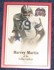 2000 Fleer Greats of the Game Harvey Martin #12 Cowboys