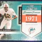 2002 Playoff Banner Season Paul Warfield #31 #'d1595/1971