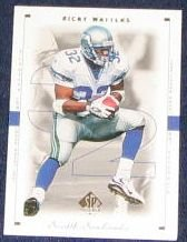 1999 SP Authentic Ricky Watters #80 Seahawks