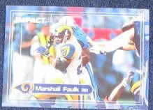 2000 Fleer Impact Marshall Faulk #30 Rams