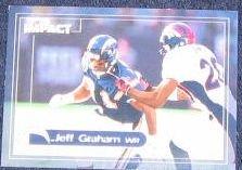 2000 Fleer Impact Jeff Graham #15 Chargers