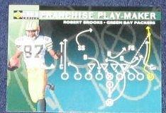 1996 Coll. Choice Play-Maker Robert Brooks #U73 Packers