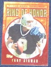 2002 Topps Ring of Honor Troy Aikman #TA27 Cowboys