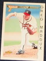 1996 Score Radar Rating Greg Maddux #194 Braves