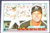 1989 Topps Big Mark McGwire #34 Athletics
