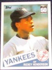 2001 Topps Traded Rickey Henderson #49T Yankees