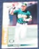 2002 Leaf Eric Chavez #35 Athletics